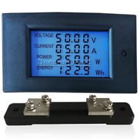 DC 100V 50A Digital LCD Display Voltage Current Power Energy Monitor Watt Meter
