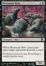 4x MTG: Ravenous Rats - Black Common - 10th Edition - 10E - Magic Card