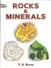 Rock and Minerals Coloring Book - w/detailed captions -Dover Publications NEW PB
