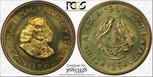 1964 SOUTH AFRICA 1/2 CENT PCGS PR66 PROOF COIN ONLY 8 GRADED HIGHER