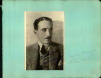 Gerald Ames Silent Film Actor Original Signed Photo On Album Page