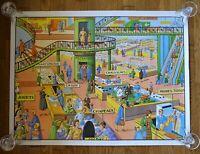 carte d'école - affiche scolaire 1960 bresson - au magasin et à la ville