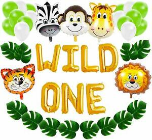 Wild One First Birthday Balloon Decoration Kit 1st Boy Girl Theme Bday Party