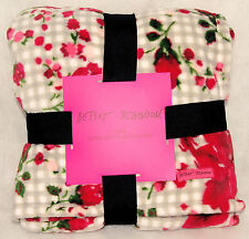 """Betsey Johnson - Floral Watercolor Twin Bed Super Soft Blanket - 60"""" X 90"""" *New"""