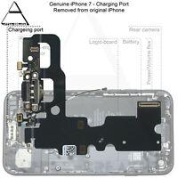"Genuine ORIGINAL Apple iPhone 7 4.7"" POWER CHARGING PORT FLEX - BLACK"