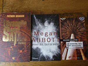 3 thrillers l EVANGILLE SELON satan .la semaine des 7 douleurs.Avant que tout se