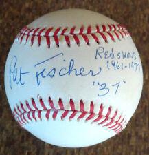 Pat Fisher Washington Redskins Autograph On an Official Major Baseball Auto