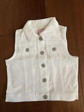 Gymboree Denim Jacket Vest - White