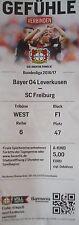 TICKET BL 2016/17 Bayer 04 Leverkusen - SC Freiburg