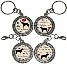 Stabyhoun Dog Key Ring Key Chain Purse Charm Zipper Pull Handmade Gift