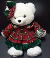 "DAN DEE 1999 Snowflake Teddy Bear 22"" NWT"