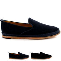 Mens H By Hudson Macuco Casual Flat Loafer Suede Smart Slip On Shoes All Sizes