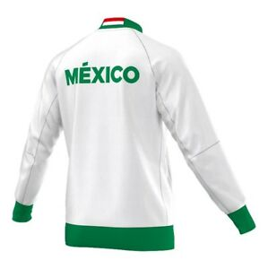 Adidas Official Mexico Soccer Jacket World Cup White Large