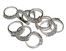 Job Lot-10 x Sterling Silver & Cubic Zirconia ½  Eternity Rings (Assorted Sizes)
