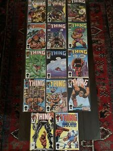 Vintage the Thing comic book lot with key issues and variant covers Mint