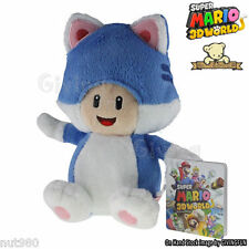 SUPER MARIO 3D WORLD - TOAD GATTO PELUCHE - 20Cm. - Plush Cat Neko Wii U Fungo