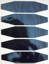 5 autocollant sticker casque moto  bande polygone noir refflechissant