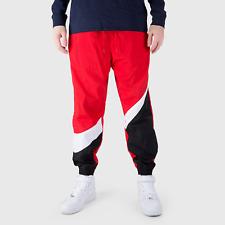 Nike Sportswear Men's NSW Swoosh Logo Woven Pants - Red Black White AR9894-657