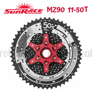 Shimano BMX VTT SPTIDT 12 Speed Cassette 11-50T VTT Cassette 10 Vitesses Fit pour VTT SRAM V/élo de Route