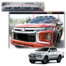 DRL Front Roof Spoiler Matte Black Fits Mitsubishi L200 Triton 4Dr 2019 - 2020