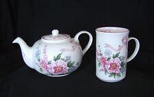 St. George ENGLISH Fine Bone China TEAPOT & Slim MUG Set Pink Floral MOTHERS DAY