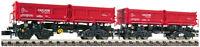 """Fleischmann N 853010 Muldenkippwagen-Set """"Fans 128"""" der DB AG - NEU + OVP"""
