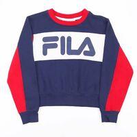 FILA  Blue Sports Crew Neck Sweatshirt Womens M