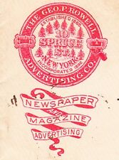George P Rowell NEWSPAPER & MAGAZINE ADVERTISING Co New York 1896 Cover Ð