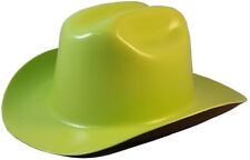 "Outlaw Cowboy Safety Hard Hat ""HI VIZ GREEN"" Ratchet Susp ANSI/OSHA Approved!"