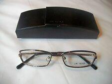 JAI KUDO 491 M06 Ladies Eyeglass Frames Black & Gold Metal New with Case FAB