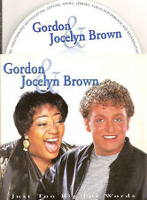 GORDON & JOCELYN BROWN - just too big CD SINGLE 2TR