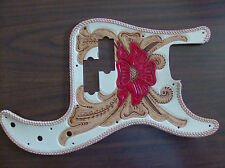 Tooled leather Pickguard for Fender Precision Bass/P-Bass