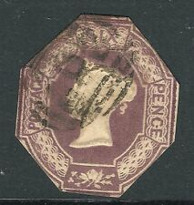 1847 SG59 GB QV 6d Purple Embossed Used