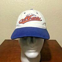 Vintage 90's New York Mets Baseball Logo Athletic MLB Strapback Cap Hat.