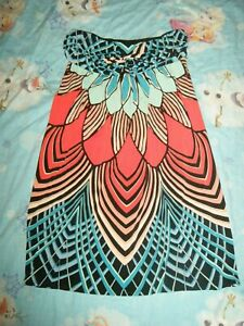 Nicole Miller multi color dress size L