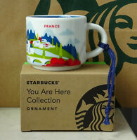 Starbucks City Mug Cup You are here Series YAH Ornament France 2oz NEW