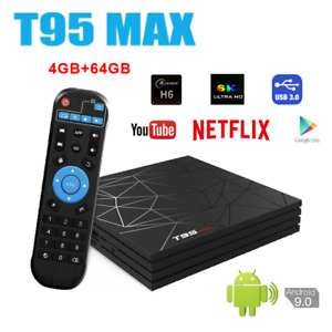 T95 MAX Network Smart TV Box Android 9.0 4+64GB HD Network Media Player 6K