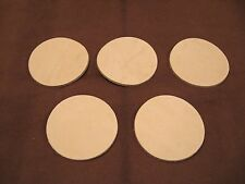 "(10) 10-11 oz. Veg Tan Cowhide Tooling Leather 3"" Circles for Crafts Repairs etc"