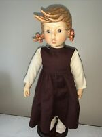 """HUMMEL Apple Tree Girl GOEBEL Pigtail Made In Germany 15"""" NUMBERED Doll ❤️tw11j"""