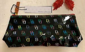 Dooney & Bourke On the Go Cosmetic Bag DB Signature Pouch Beauty Black Case🌺