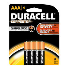 Duracell Coppertop Alkaline Duralock Technology AAA Batteries (1 pack of 4)