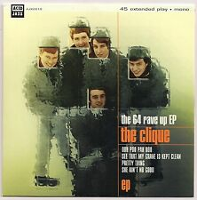 "60s MOD 7"" 45 THE CLIQUE THE 64 RAVE UP EP UK ACID JAZZ RECORDS REISSUE"