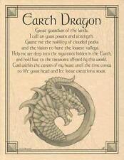 Earth Dragon Parchment Page for Book of Shadows, Altar!