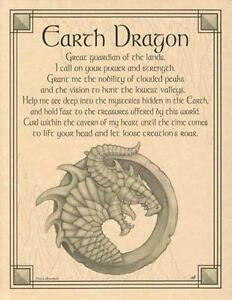 Earth Dragon Parchment-Like Page for Book of Shadows, Altar!