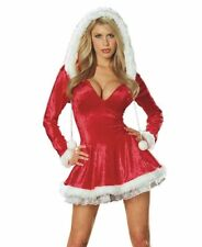 Sleigh Belle Sexy Costume Dress Fancy Dress Women's Xmas Mrs Santa Claus XS