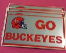 10 Vintage OSU OHIO STATE GO BUCKEYES Bumper Stickers NOS '80's Unused, Unpeeled