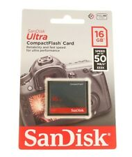 SANDISK 16GB ULTRA COMPACT FLASH CARD CF CARD fino a 50 MB/s, 333X NUOVO ORIGINALE