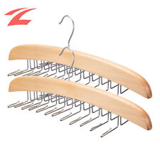 2x Krawattenbügel Krawattenhalter für 24 Krawatte Gürtelhalter Holz Kleiderbügel