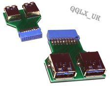 Scheda madre 19pin intestazione a 2 porte USB 3.0 un adattatore del connettore femmina HUB