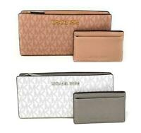 Michael Kors Jet Set Travel Large Card Case Carryall Leather Wallet $198